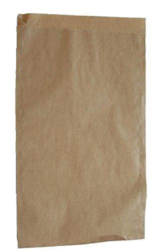 Papiertüten braun flach 14,5x23cm (300St.) von BLÜHKING®
