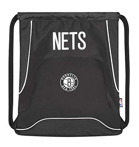 Panini spa Sacca NBA Nets Brooklyn New York Zainetto Palestra Scuola Sport 40x35 cm Nero