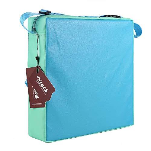 Zicac Sitzerhöhung Sterne Muster Tragbare Sitzerhöhung mit Seitentasche für Kinder Seat Pad (Hellblau)