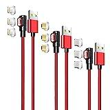 LAMA 90° Magnetisches USB Ladekabel [3 Stück 1M + 1,5M +