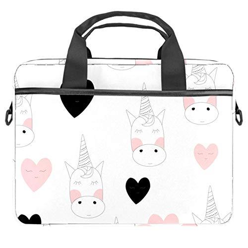 Computer Bag Suitable for MAC Computers Men and Women Handbags: 13.4 inch-14.5 inch Lightweight 15 inch Laptop Bag Business MessengerWhite Unicorn