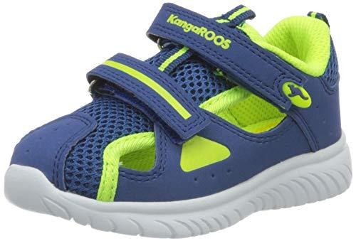 KangaROOS KI-Rock Lite V Unisex Baby Sneaker, Blau (Navy/Neon Yellow 4137), 23 EU