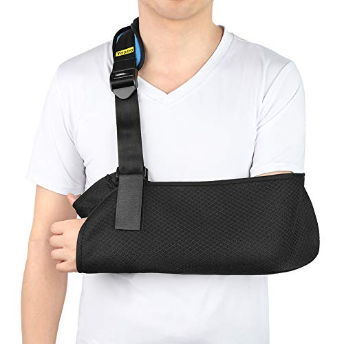 Arm Sling, Mesh Medical Arm Support for Adults, Breathable Shoulder Immobilizer Elbow Arm Support for Broken Arm, Wrist, Elbow, Shoulder Injury, Available for Women and Men, Left or Right Arm