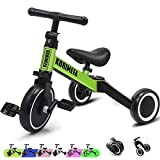 3 in 1 Kids Trike for Children 1-3 Years Old Kids Tricycle Boys Girls Baby Balance Bike 2 Wheels for...