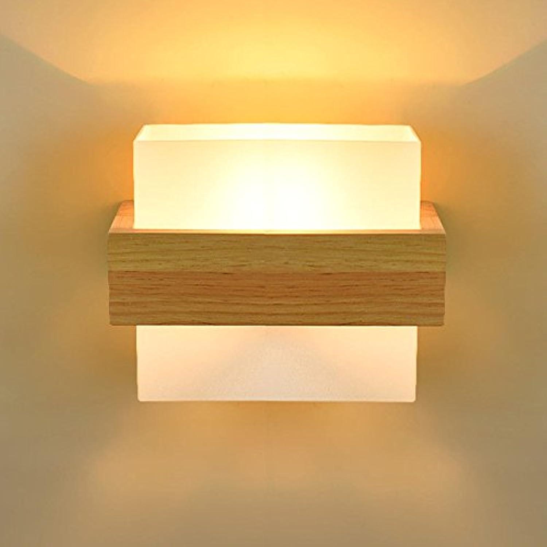 Firsthgus E27 Wandlampe Wohnzimmer Schlafzimmer Massivholz Wandleuchte Nachttischlampe Retro Led Hintergrund Wand Gang Treppenlicht (8E43)