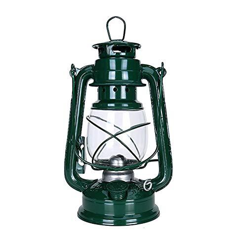 Dongbin Lámpara de Aceite purismo Linterna Queroseno Estilo keroseno Linterna Caballo 25cm - Spinning Conjunto de Cristal de 2,C