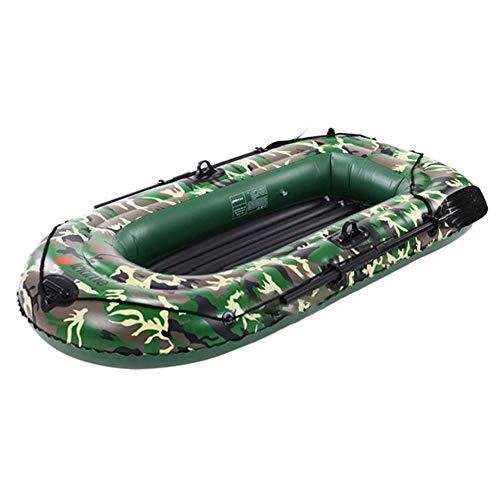 Schlauchboot Pool Kayak Aufblasbares Kanu Mit Pumpe Gummiboot Ruderboot Paddelboot Für 4 Personen, Faltkajak Mit Robuster Polyester Außenhülle, Hohe Stabilität Auf Dem Wasser 1 Stück