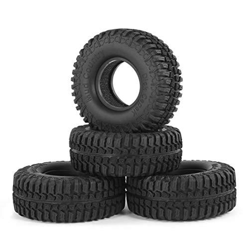 BiaBai Durable 4 Uds Austar 3020 1,9 pulgadas neumáticos de goma juego de neumáticos para D90 Cc01 1/10 Rc Mini coche de escalada sobre orugas
