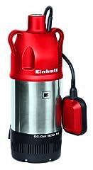 Pompa ciśnieniowa zanurzeniowa Einhell GC-DW 900 N (900 W, 6000 l/h max. natężenie przepływu, 7m maksymalna głębokość zanurzenia, obudowa ze stali nierdzewnej, przełącznik pływakowy, 2 oczka wiszące)