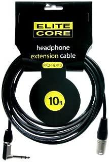 Elite Core EC-PRO-HEX10 10-Feet 1/4-Inch TRS - XLRM Headphone Extension Cable