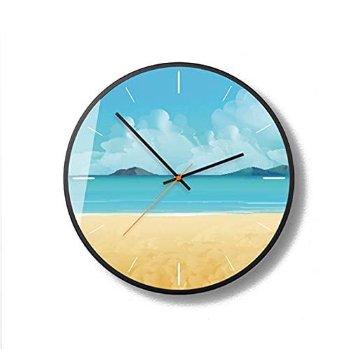 J-Clock Orologio Parete Vintage con Paesaggio, Orologio Parete al Quarzo qualità Silenzioso 12 Pollici, Orologio Parete Decorativo Cucina per Ufficio, Orologio Scuola