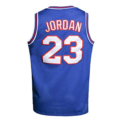 Youth Basketball Jersey Moive #23 Space Jam Shirts for Kids (Blue, Medium)