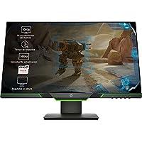 HP 25x - Monitor Gaming de 24.5'' Full HD (1920x1080,  TN,  16:9 HDMI 2.0,  DisplayPort 1.2,  1ms,  144 Hz,  AMD FreeSync,  Low Blue Light,  Ajustable en Altura),  negro y verde