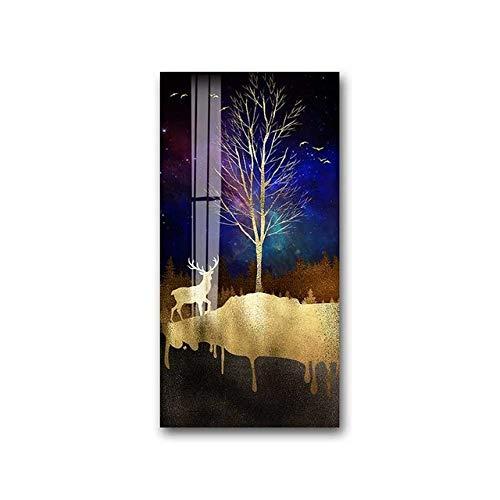 Leinwand Malerei Wohnzimmer Goldene Kunst Wand Bild Druck Schlafzimmer Esszimmer Home Decoration Poster 40X80cm
