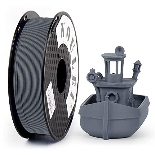 Noulei Matte PLA 3D Printing Filament 1.75mm, Space Gray, 0.5 kg 500g Spool