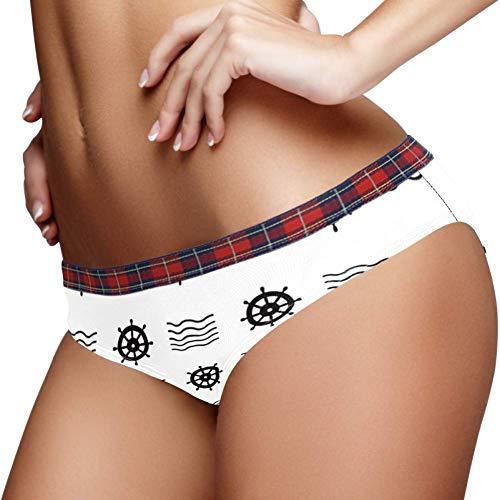 TIZORAX Nautical Helm Vrouwen Ondergoed Bikini Mode Dames Korte Broek