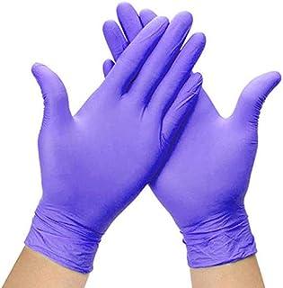 LAYOPO 100Pcs Disposable Nitrile Exam Gloves, Powder Free, Latex Rubber Free, Disposable Gloves - Non Sterile, Food Safe, ...