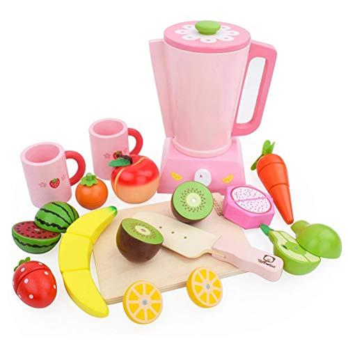 Toyvian Küchenspielzeug Küchengerät Entsafter Holz Schneidbaren Obst Gemüse Lebensmittel Schneiden Spielzeug