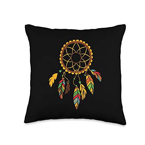Dream Catcher Design Native American Dreamcatcher Dreamcatcher Native American Indian Boho Dream Catcher Throw Pillow, 16x16, Multicolor