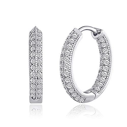 Cubic Zirconia Hoop Earrings $5.50 (50% OFF Coupon)