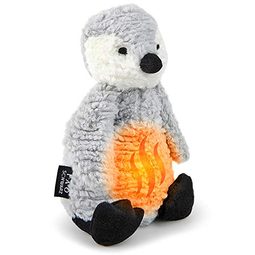 FAO Schwarz 12 Inch Warm Paws Plush Penguin, Microwave Warm-Up Stuffed Animal for Sleepytime with Lavender Aromatherapy, Cuddle and Snuggle Pal with Ultra-Soft Fur