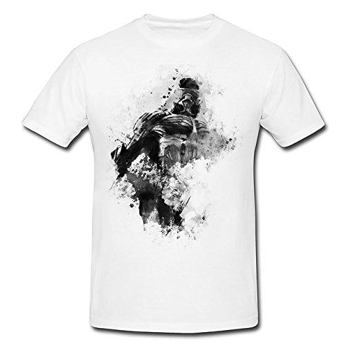 Crysis 3 T-shirt pour homme avec motif élégant de Paul Sinus - Blanc - X-Large