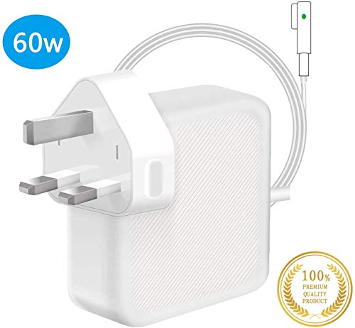 Compatible With MacBook Pro Charger, Replacement 60W MagSafe L-Tip Connector Power Adapter, Charger for MacBook Air 11 inch & 13 inch (2009 Late 2010 2011 2012 Summer)