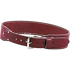 Equipped with a 2-inch wide heavy leather tongue and a nickel plated steel roller buckle Constructed entirely of the highest quality 12-14 ounce bridle leather to provide support and comfort Edge stitched for quality, appearance and strength Fits wai...