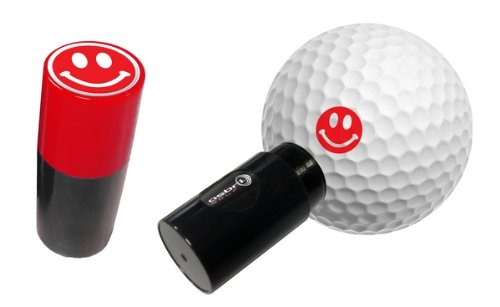 ASBRI GOLF BALL STAMPER. SMILEY RED.