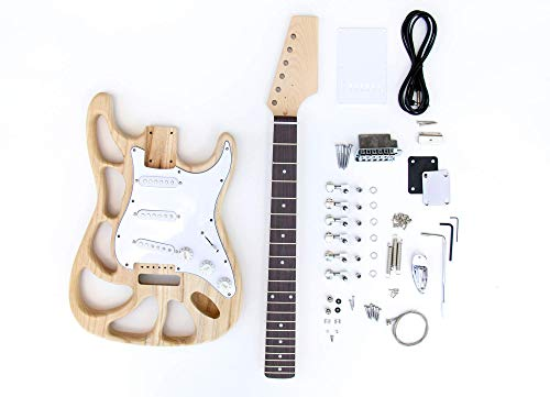 The FretWire DIY Electric Guitar Kit - ST Style Build Your Own Guitar Cut Body