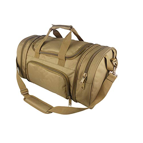 WolfWarriorX Men Military Tactical Locker Duffel Bags with Shoes Compartment Large Storage Lightweight Workout Travel Vocation Hiking Trekking Luggage Sport Gym Bag