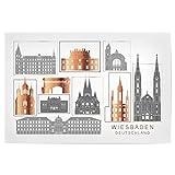 artboxONE Poster 60x40 cm Städte Wiesbaden Skyline Copper