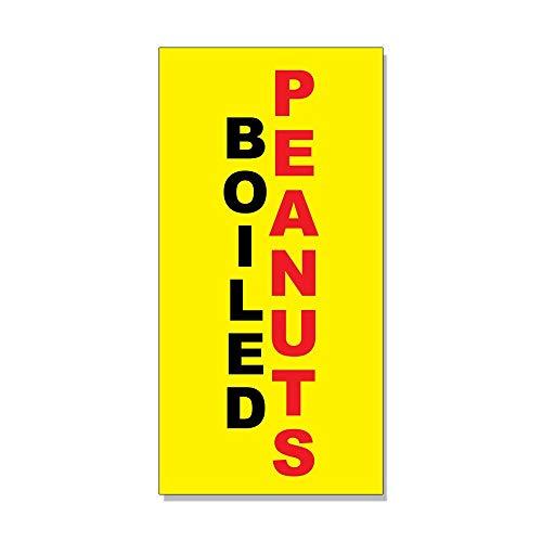 Gekookte pinda's zwart rood geel achtergrond winkel teken metalen bord voor voordeur aluminium teken zware metalen tin teken cadeau