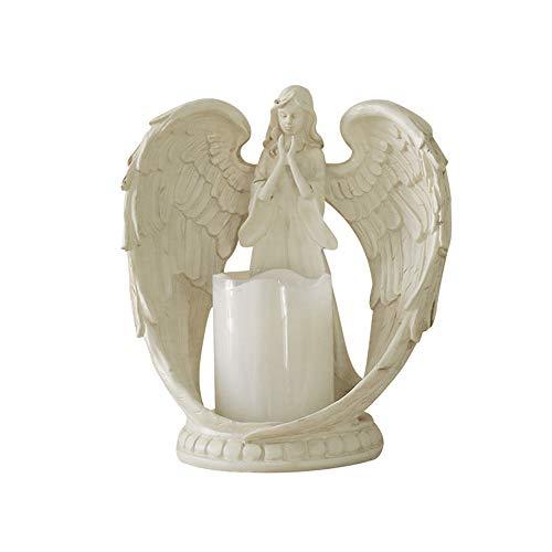 LCDYPortacandele Elettronico Angel, Decorazione della Casa Regalo di Nozze retrò, Artigianato in Resina, Gioielli Modello Camera da Letto Soggiorno,M