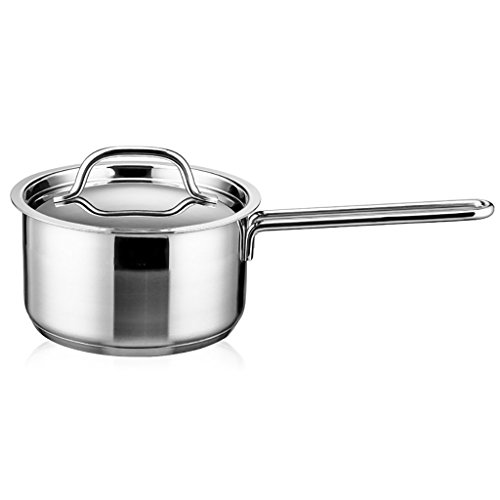 WENJUN Roestvrijstalen steelpan met glazen deksel Handy Pot Milk Cookware 7 Inch Pan Huishoudelijke Gas Cooker Universele Cooker Pot Nonstick Thicker