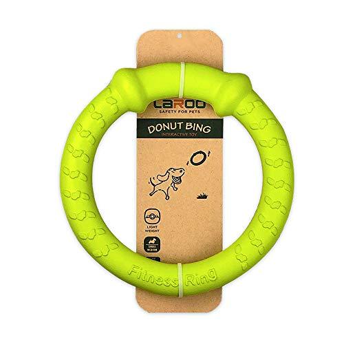 LaRoo Hundefitness-Ring Hundefrisbee, unzerstörbare Float Hunde Flugscheibe Spielzeug, Sommer Pet Training für Mittelgroße und kleine Hunde (Grün-18CM/7.08in)