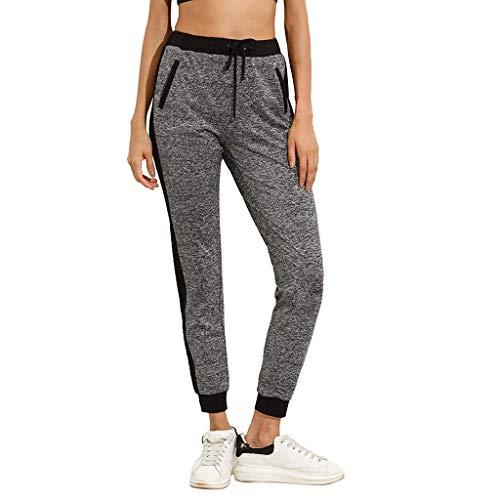 LeeMon Kleid Frauen Spitze Jogginghosen, LeeMon Frauen-beiläufige Taschen-beiläufige elastische Hosen-Längen-Hosen Sweatpants-Hosen