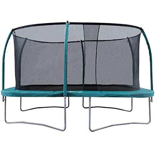 Skyhigh 10 voet x 14 voet Rechthoekige trampoline en veiligheidsbehuizing. Topspecificaties en grote ruime bounce gebied!