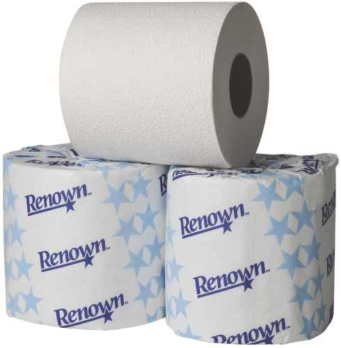 Renown REN06105-WB Bathroom Tissue Roll Universal Single 1-Ply OFFicial Selling rankings shop