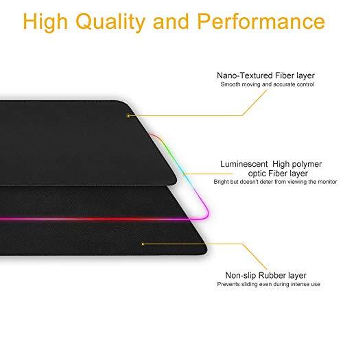 JRDNB Mauspads Schwertkunst Online-Gaming Maus Matte Gamer RGB Hintergrundbeleuchtete Ursache Große Anime Mousepad XXL Für Schreibtisch Tastatur LED Matte 900 * 400 MM