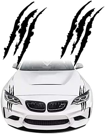 KE KE Claw Marks Decal Reflective Sticker Waterproof Headlight Decal Vinyl Sticker Decal for product image