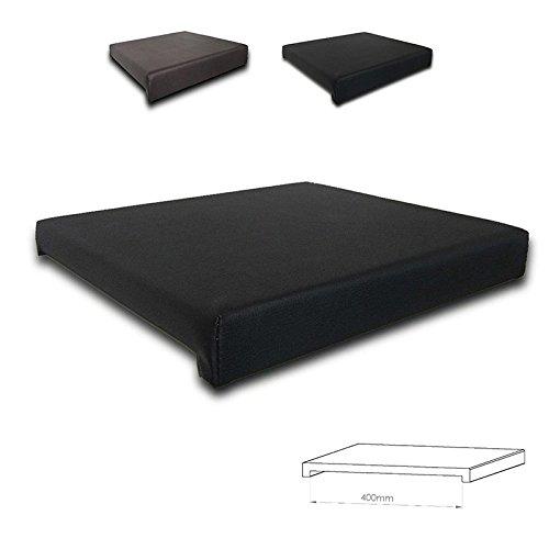 animal-design Klemmkissen Sitzkissen 2 Leisten - 40cm Klemmtiefe Kunst-Leder braun oder schwarz, Farbe:schwarz