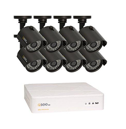 Q-See QTH8-8Z3-1 Alámbrico 8channels - Kit de videovigilancia (Alámbrico, Bala, BNC, Interior/exterior, Metal, IR)