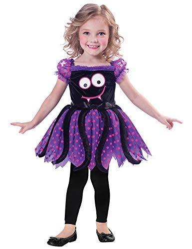 Fancy Me Baby Kleinkind Mädchen Niedlich Schwarz Violett Rosa Spinne Mini Biest Halloween Kostüm Kleid Outfit 1-3 Jahre - Rosa, 1-2 Years