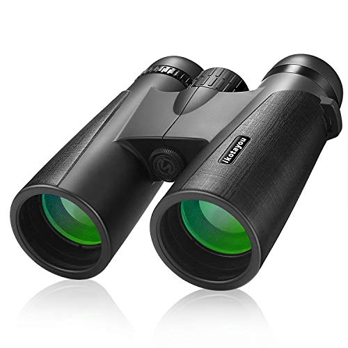 Binoculars Gifts for Men, 12x42 High Power Binoculars for Adults with Clear Vision Waterproof Compact Binoculars for Bird Watching Hunting Travel Camping Football Concerts with Carrying Bag