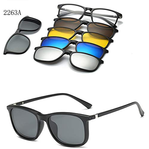 LAOGEFJ Sonnenbrille Polarisierte Optische Magnetische Sonnenbrillenclips Für Männer Und Frauen, Magnetclips An Sonnenbrillen, Sonnenbrillenclips Am Rahmen