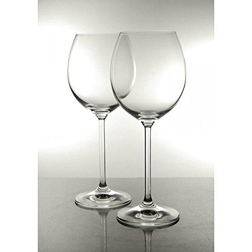 Cristal de Bohemio tallado – Estuche de 6 copas de vino tinto de cristal, colección Venise: Amazon.es: Hogar