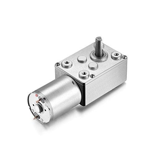 AZSSMUK Motor eléctrico de reducción de 12 V de Corriente Continua Motor de par Alto con Caja de Engranajes para Ventanas, abridor de Puertas, cabrestante Miniatura, 120 RPM, 12 Volt