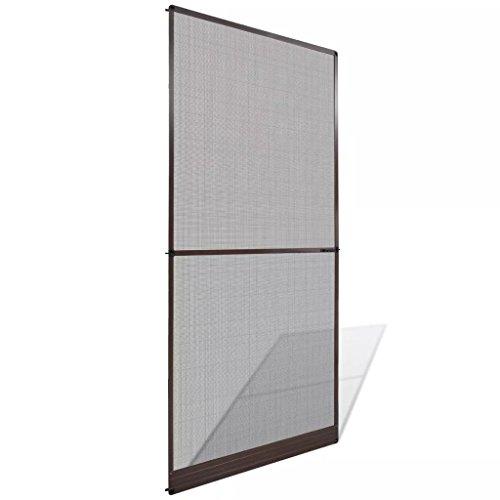 Tidyard Mosquitera Extensible/Easy Slide para Ventanas y Puertas Mosquitera con bisagras para Puertas marrón 100x215 cm