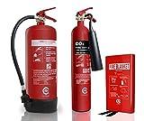 Paquete de seguridad contra incendios de tienda pequeña/peluquería. extintores con manta de fuego.